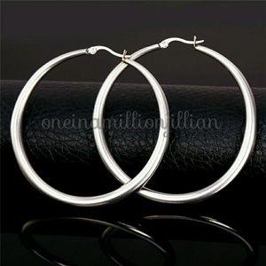 Stainless Steel Large Hoop Earrings